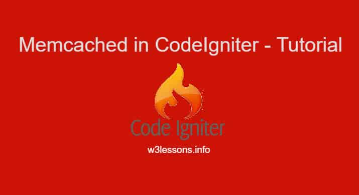 Memcached in Codeigniter