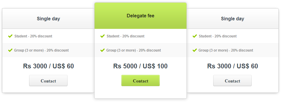 Responsive Pricing Table Using CSS3