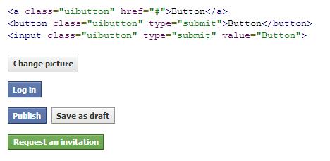 CSS3 Facebook Buttons