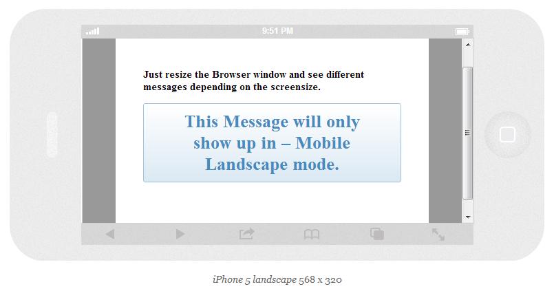 Mobile Landscape Mode