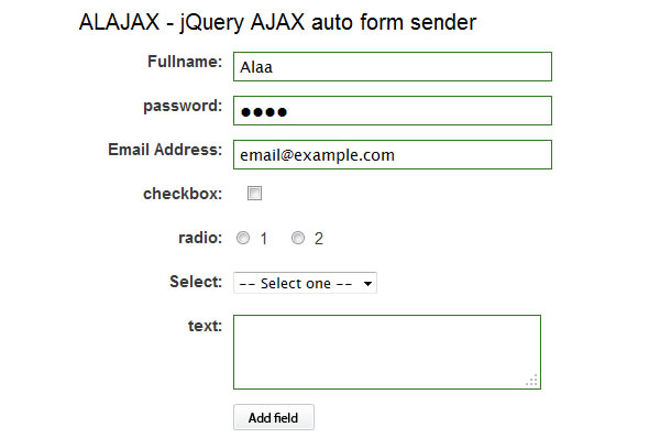 Normal HTML Form into AJAX Form
