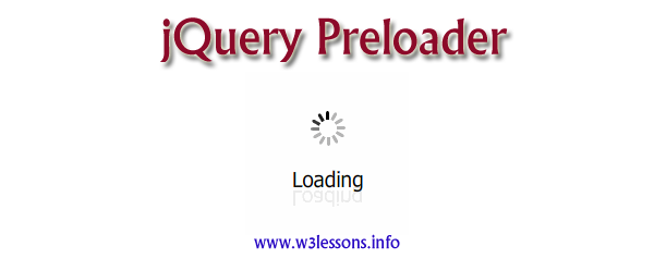 jQuery Preloader for websites