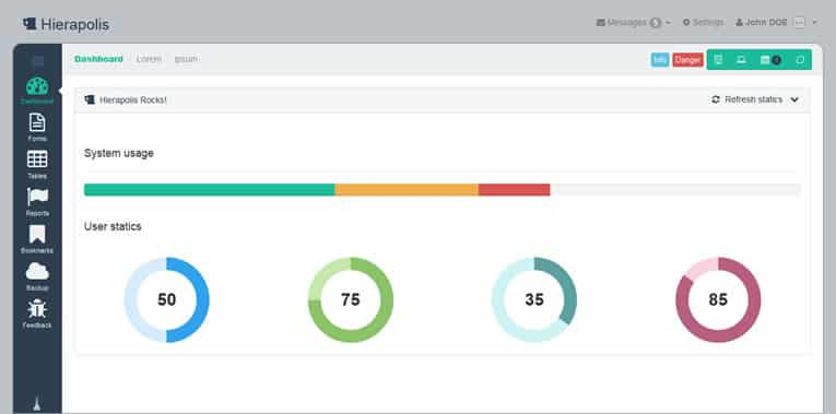 Free Responsive Bootstrap Admin Templates 2014 - W3lessons ...