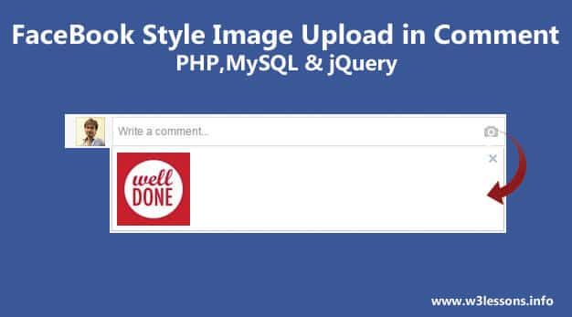 Image Upload in Comment Box using jQuery and PHP