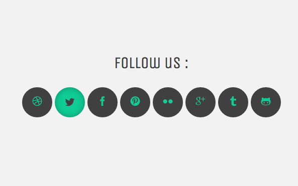 Icon Fonts in Use with a Fancy Hover Effect