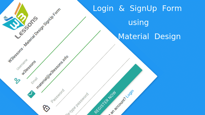 Login Signup Form Using Material Design And Jquery