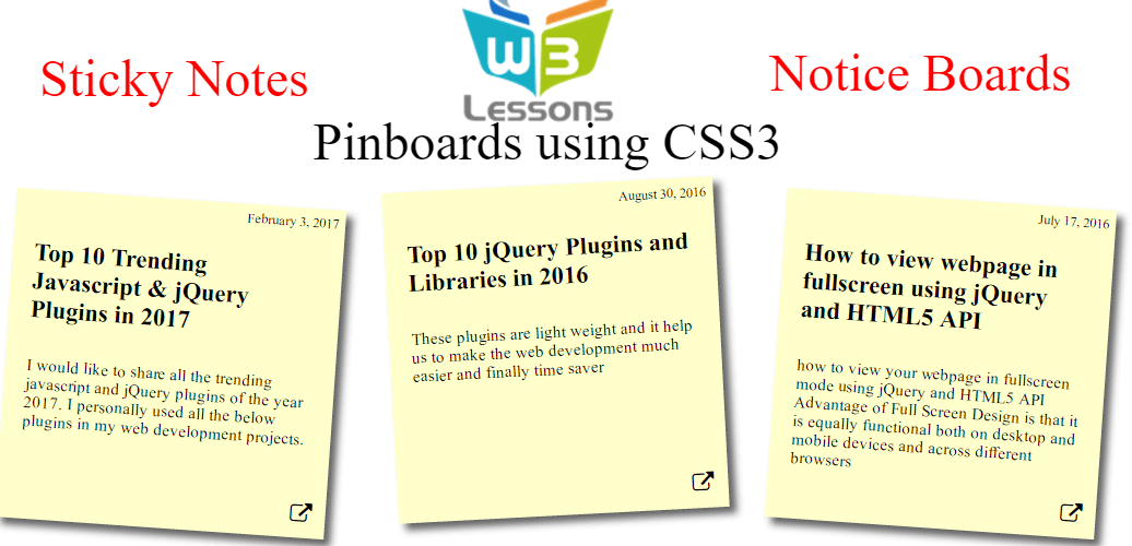 Responsive Pinboards using CSS3
