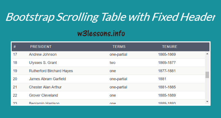 Bootstrap Fixed Table Header using CSS