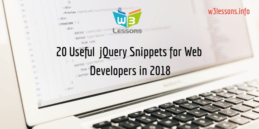 Top 20 Useful jQuery Snippets for Web Developers in 2018